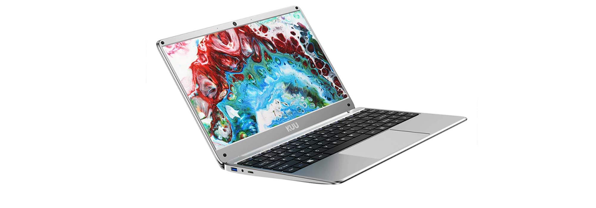 Blitzangebot: 14,1″ KUU Kbook Laptop mit 128 GB SSD und Zubehör