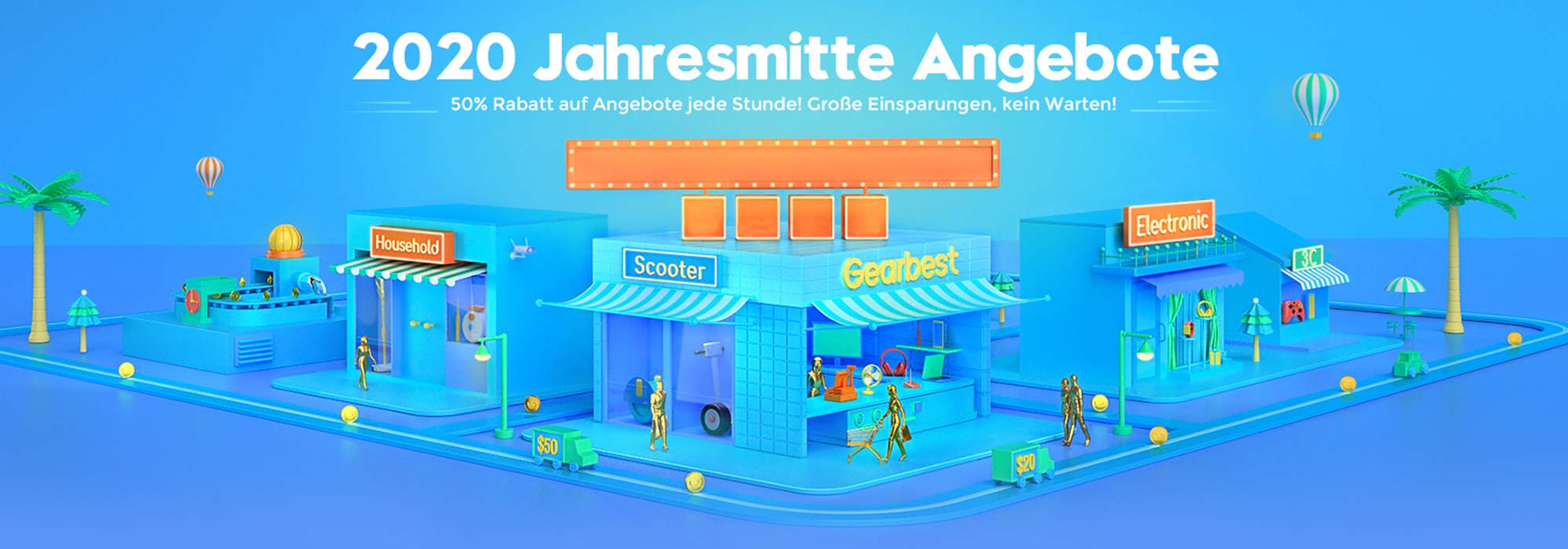 GearBest Sommer-Aktion: Viele Produkte deutlich reduziert